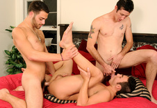 Tommy Defendi, Damon Audigier, Danny Brooks gay networks video from Suite 703