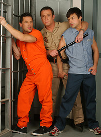 Ari Sylvio, Trevor Knight and Tucker Scott:Bad boy, Cop, Police Officer, Prisoner, Stranger, Bed, Jail, Prison, Ball licking, Big dick, Bubble butt, Cum on chest, Cum on stomach, Deep-throating, Dirty talk, Kissing, Lean, Masturbating, Rimming, Short hair, Tattoos, Threesome, Tight ass, Uniform, Young guy