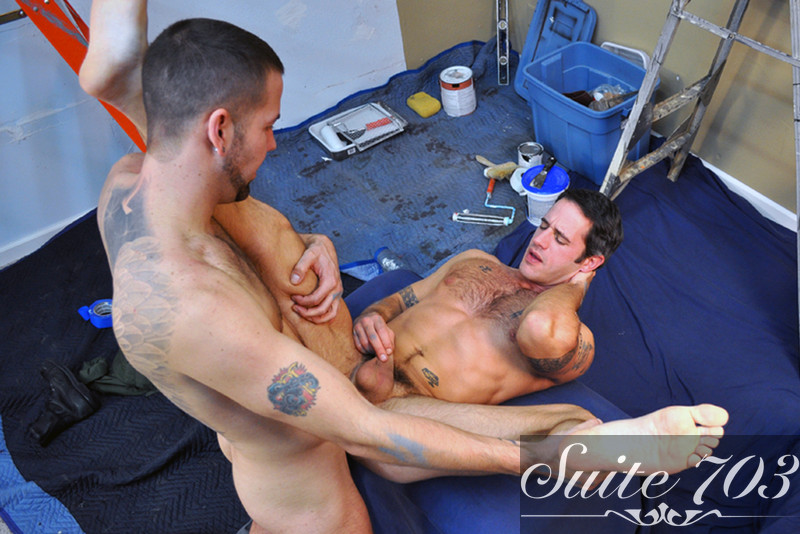 Preston Steel & Clayton Archer in Men Hard at Work - Gay Sex Position #2