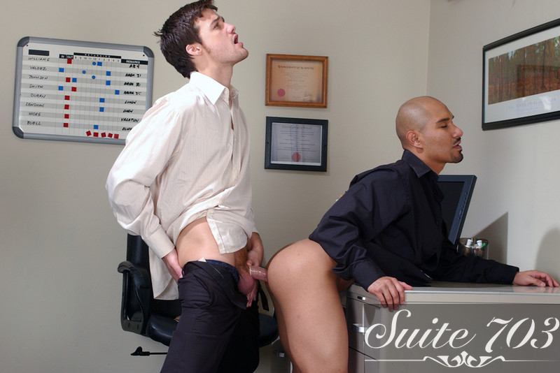 Krys Perez & Johnny DeNiro in Men Hard at Work - Gay Sex Position #2
