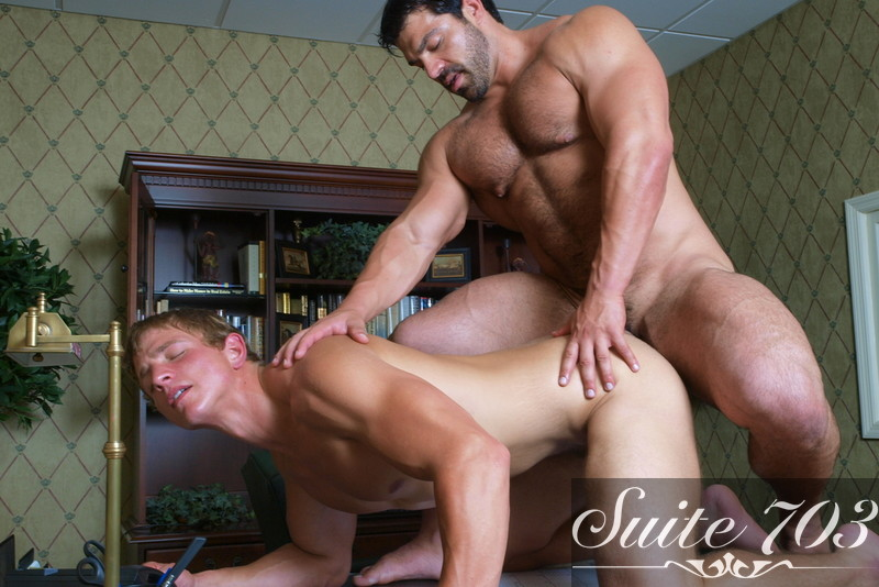 Vince Ferelli & Landon Mycles in Men Hard at Work - Gay Sex Position #2
